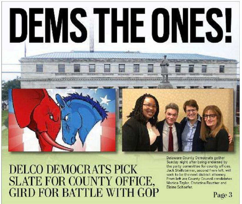 Delco Dems Endorse Slate of Countywide Candidates