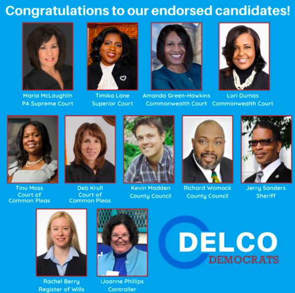 Delaware County Democratic Committee Endorses 2021 Slate!